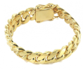 14K Miami Cuban Bracelet (Semi-Solid)