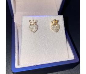 Queen Of Hearts 1ct Diamond 14k Earrings