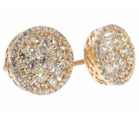 14K Round Diamond Stud Earrings (1.92ct)