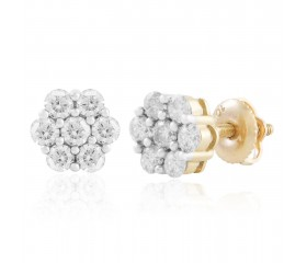 Diamond Flower Earrings (0.25ct - 1.00ct)
