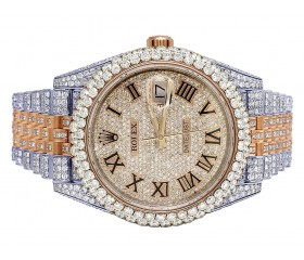 Rolex 41mm Datejust 18k TwoTone 25cts Diamonds 126331| 41MM | Full Diamond Roman Dial