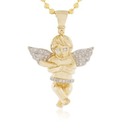 10K Diamond Cherub Angel (0.20ct)