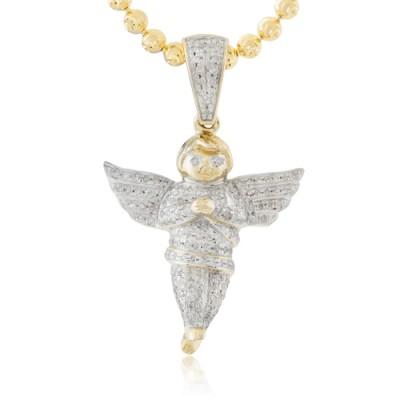 10K Diamond Angel Pendant (0.50ct)
