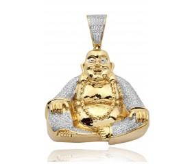 10K Diamond Sitting Fat Buddha (1.50ct)