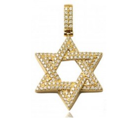 14K Diamond Star of David Pendant (1.50ct)