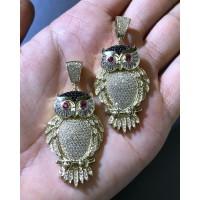10K Owl Pendant