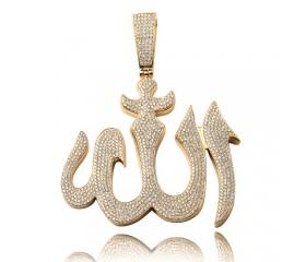 14K Diamond Allah Pendant (5.00ct)