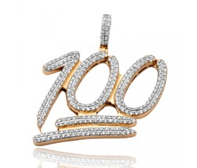 10K Diamond '100' Pendant (2.50ct)