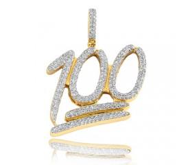 10K Diamond '100' Pendant (1.50ct)