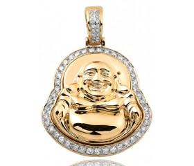 10K Diamond Buddha Pendant (1.15ct)
