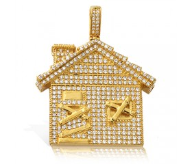 10K Diamond Trap House Pendant (2.35ct)