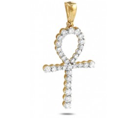 14K Diamond Ankh Pendant (2.00ct)