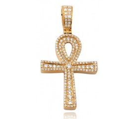 10K Diamond Ankh Pendant (1.10ct)