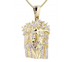 10K Diamond Jesus Pendant (0.28ct)