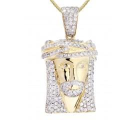 10K Diamond Jesus Pendant (2.35ct)