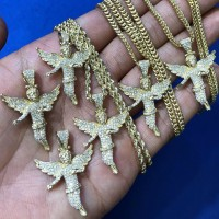 3D Cherub Angel Pendant