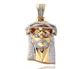 14K Diamond Jesus Pendant (2.15ct)