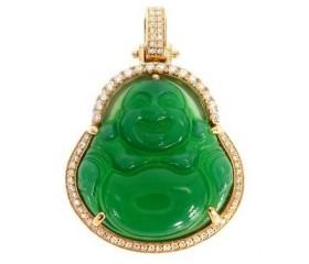 Diamond Jade Buddha Pendant (1ct)